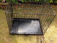 FINAL REDUCTION FOR QUICK SALE Nearly new medium dog crate with tray