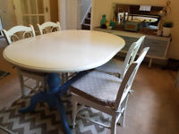 ** Vintage Shabby Chic Dining Table & 4 Chairs - ONLY £60 o.n.o **