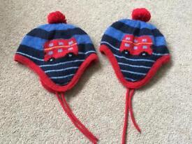 Jojo Maman Bebe Woolly hats 1-2 years