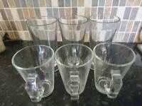 Set of coffee/tea glasses