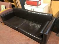 Brown Leatherette Sofa