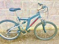 Viking targa gents mountain bike 18 gears dual suspension frame 20 inch 26 inch wheels