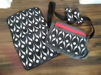 Baby changing bag, mat & chest pads