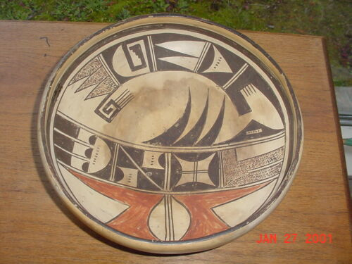 LARGE OLD HOPI INDIAN NAMPEYO SITYATKI  POTTERY BOWL