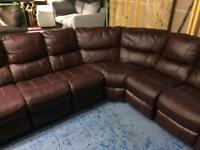 Ex-Display Leather Corner sofa