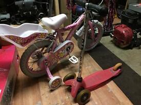 micro scooter + bike