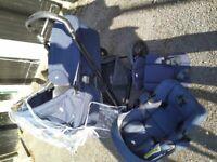 Navy pram and car seat