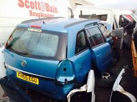 Vauxhall zafira petrol 2006 year parts available