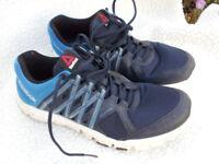 Reebok YourFlex trainer, running shoe, size UK 9, mens, blue/navy, excellent condition