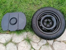 Steel wheel with Dunlop tyre and jack kit 14 inch