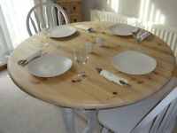 Drop Leaf Table with 2 Chairs - Shabby Chic