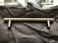 8 x Brushed Nickel T Bar Kitchen Door Handles 128mm Hole Centres