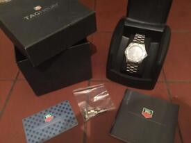 Tag Heuer watch. Boxed with paperwork. Excellent condition