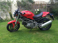 2004 DUCATI MONSTER 620IE, ONLY 2300 MILES, 11MTH M.O.T, NEW TYRES