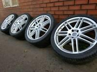 """VW 22"""" ALLOY WHEELS & TYRES 5X120 TOUAREG BMW X5 X3 VW T5 RANGE ROVER"""
