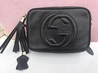 Gucci black leather soho handbag - brand new with tags