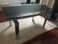Glass Extending Dining Table 6 Chairs