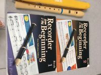 Musical Recorder & Recorder From The Beginning Music books 1 & 2