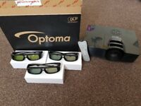 """Optoma HD141X Full HD 3D 1080p Projector with 92"""" Screen £450"""