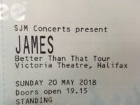 James The Band - Halifax 20th May - Single Standing Ticket SJM Concert