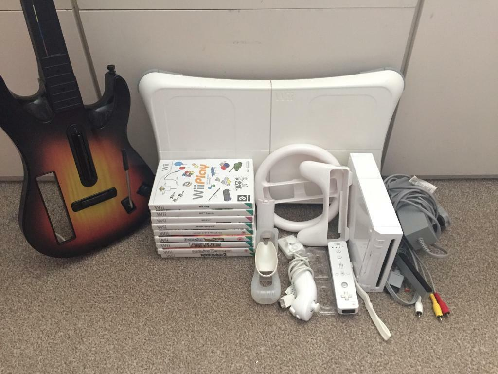 Nintendo Wii console + 9 games and accessories £60 or fair offer