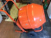Cement mixer very good order and can been seen working on stand