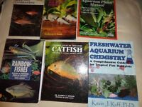 assortment hard and soft back tropical fish books