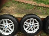 bmw 3 series x4 alloy wheels with michelin tyres 195x65xr15 good condition