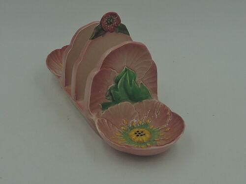Vintage Carlton Ware Pink Buttercup/Poppy Toast Rack Server