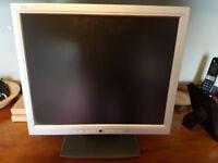 "Flat screen monitor. 17"" TFT LCD 1280x1024. Good working order. £10"