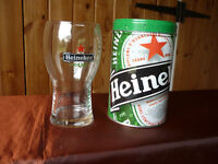 Heineken Experience beer glass with original souvenir tin