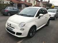 Fiat 500 1.2 S 3dr (start/stop) SPORTY WHITE, FSH, GOOD MILAGE