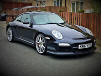 *RARE* 2007/07 PORSCHE 911-997 C4S GT3 RS 3.8 TURBO WIDEBODY MANUAL BLACK PX SWAP M5 M3 RS6 RS4 Q7