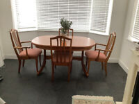 Sutcliffe Dining Table & 4 Chairs