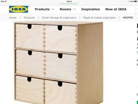 IKEA 2 sets of Moppe drawers £15 for both