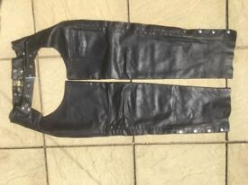Leather Chaps, motorcycle, casual or equestrian.