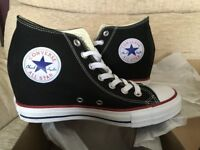 New – CONVERSE TRAINERS – WEDGE HEEL - CT LUX MID – Size 6 – colour: BLACK