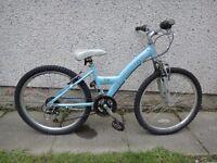 Revolution skye bike suit age 9 - 12 years 24 inch wheels 18 gears aluminium frame front suspension