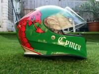 Welsh motorcycle helmet