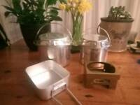 Camping Cooking Pots & Brand New Hexi Stove