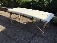 Unused massage table
