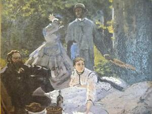 """Art Print Claude Monet """"The Picnic, A Fragment"""" Painted 1866 Stratford Kitchener Area image 1"""