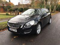 62/2012 Volvo V60 SE Lux D2 1.6 Drive-e Estate 5dr Manual Excellent Condition 1 Owner, FVSH £30 Tax