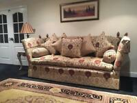 David gundry Manhattan major 4 seater sofa & love chair 2 piece suite Rrp £7,500