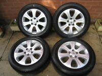 vauxhall alloy wheels 16 inch 5 stud + saab / alfa romeo / astra vectra