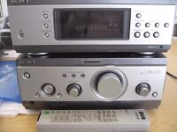 REDUCED! Sony MHC-S7 2x75 watts hifi system with tuner, 3xCD, original speakers and remote