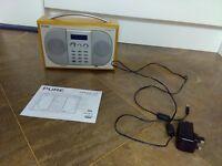 Pure Evoke 2XT DAB/FM/AUX Maple Wood Portable Radio