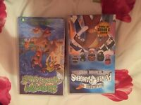 Vhs tapes scoobie doo and power rangers
