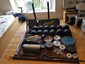 Gym Equipment - Weight Plate, Dumbbell, Barbell, Bench, Rack, Belt, Vest, Block.
