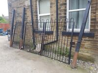 Garden gates for drive way with optional side gate.